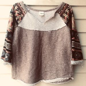 Vintage distressed BKE Daytrip Aztec top